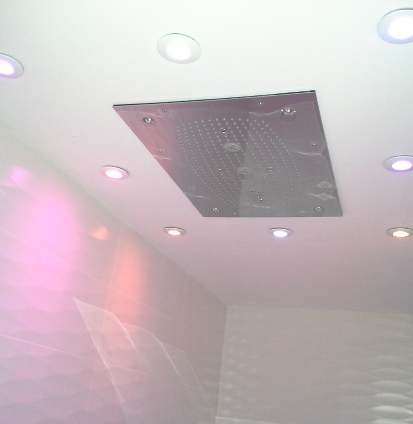 Philips HUE coloured shower