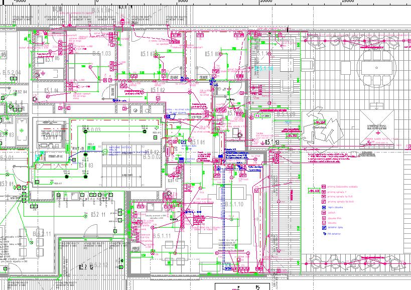 Podrobný realizačný projekt elektrickej inštalácie v byte B5.1